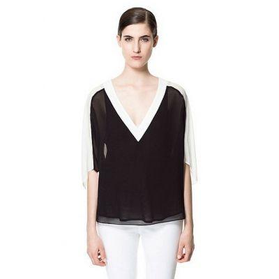 V-neck Fack Two Pieces Shirt [FDBI00151]- US$ 32.99 - PersunMall.com