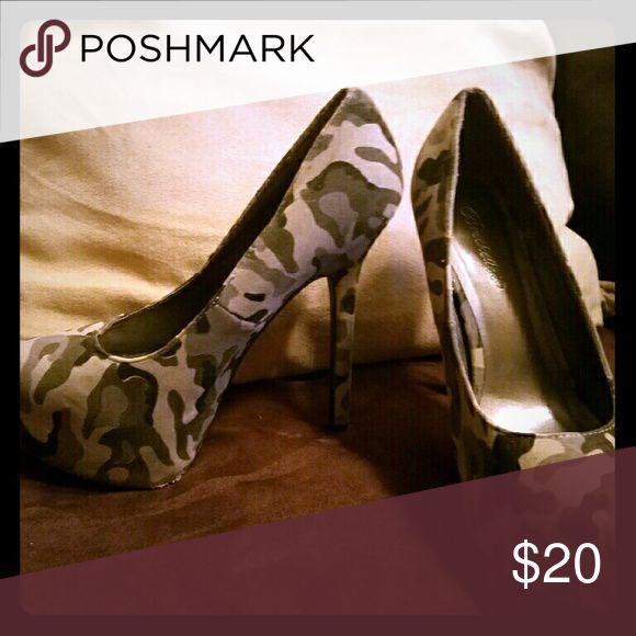 Women's platform heels Women's Camo platform heels Breckelles Shoes Platforms