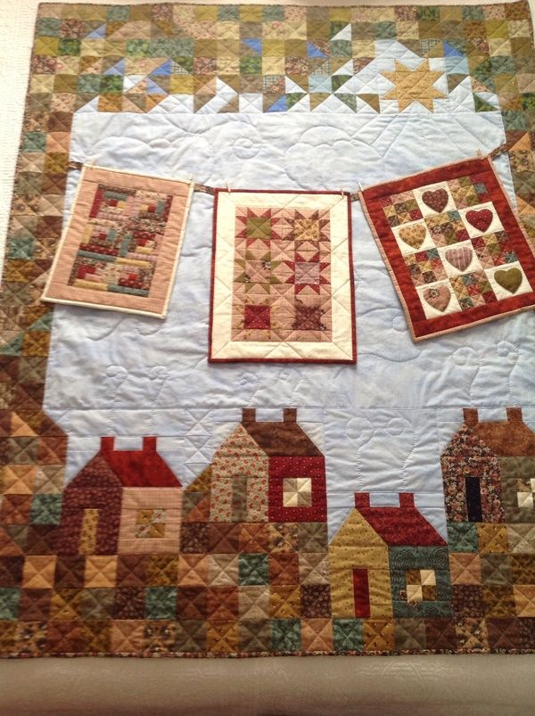 Featured Member Quilts: Cabins & Houses of the Heart - 24 Blocks