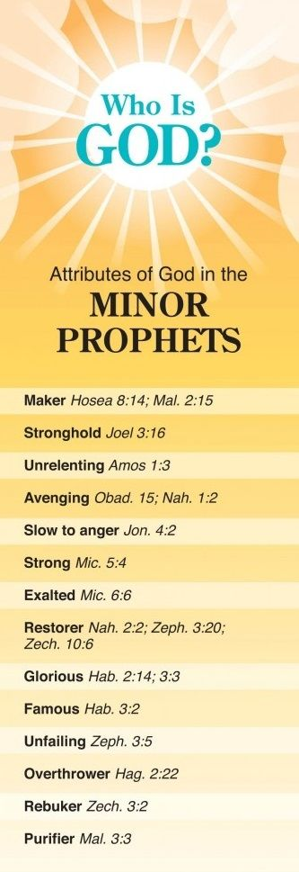 Who Is God? - Attributes of God in the Minor Prophets