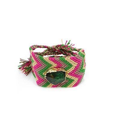 Wayuu Armband met Edelsteen 120 - €39,95