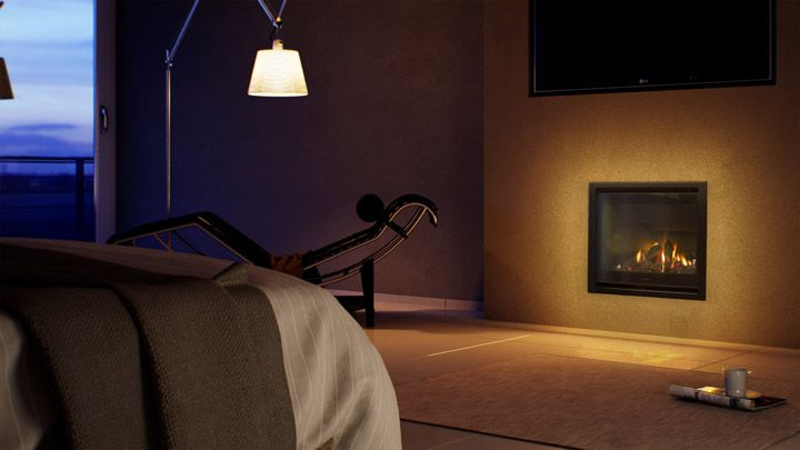 A fire in your bedroom, you ask? Yes! AF700 making your master room toasty and warm #lbedroom #fire