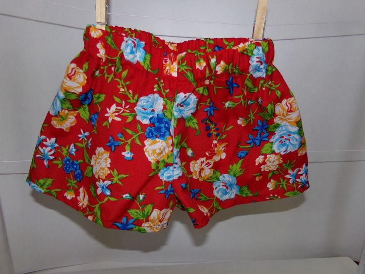 A personal favorite from my Etsy shop https://www.etsy.com/ca/listing/553441669/red-floral-summer-shorts