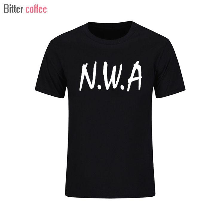 Summer N.W.A. Men T-shirt Straight Outta Compton Movie Ice Cube Dr Dre Eazy E DJ Yella MC Ren Tee Rock Band Hip Hop T Shirt  #Affiliate