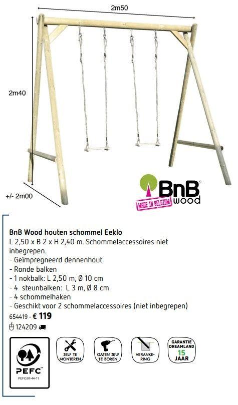Bnb wood houten schommel eeklo - BNB Wood