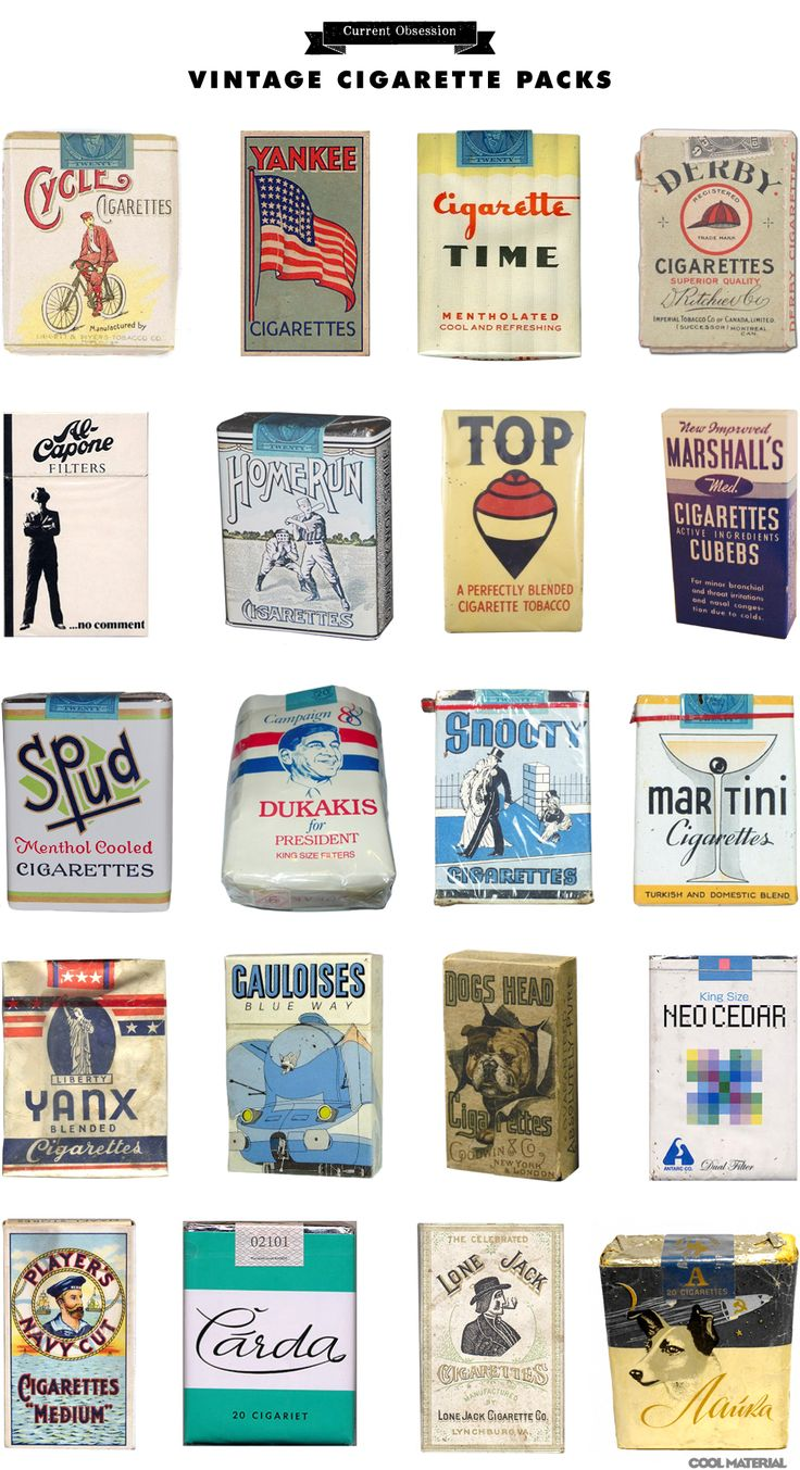 Current Obsession: Vintage Cigarette Packs