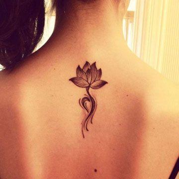 imagenes de flor de loto para tatuar en el cuello