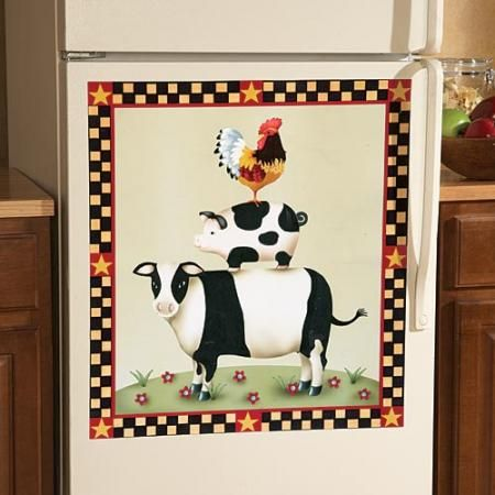 Farm Animal Magnetic Dishwasher Cover Kitchen Decor New