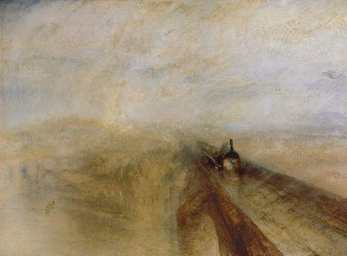 William Turner Regen Poster Great Western Railway Dampf und Geschwindigkeit