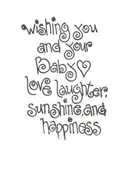 Sayings for cards - baby