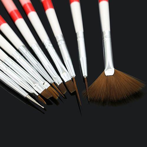 10 Pcs Nail Art Design Gel UV Brush Set Liner pintura Pen Manicure dicas de ferramentas alishoppbrasil