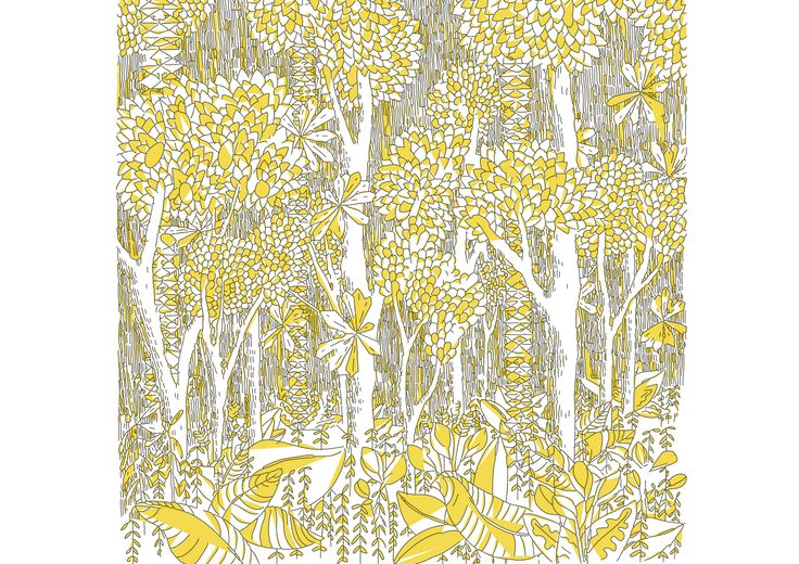 #dessin #yellow #jaune #color #jungle #forest #tropical #tree #nature