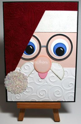 EmbossingChristmas Cards Diy Stampin Up, Cards Ideas, Santa Christmas, Diy Gift, Christmas Cards Santa, Embossing Greeting Cards, Santa Cards, Embossing Santa, Diy Christmas Cards