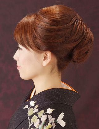 【訪問着ヘア】気品溢れるしっとりアップスタイル|夢館ビューティー || 京都 || 着物着付・ドレスヘアセット&メイク || 結婚式・およばれ・パーティに
