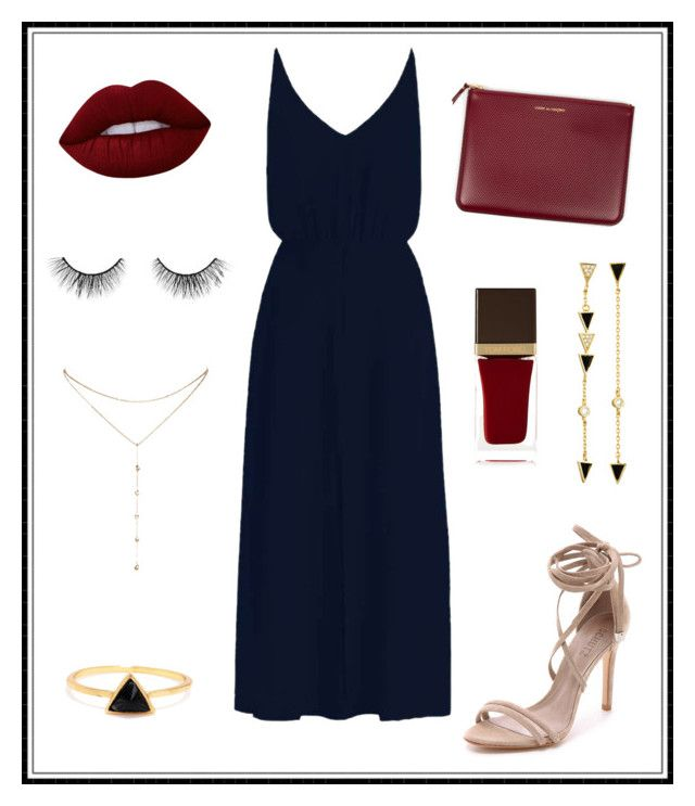 """""""#144"""" by e-elmedal on Polyvore featuring Zimmermann, Schutz, Lime Crime, tarte, Comme des Garçons, Tom Ford, Tai and GUESS by Marciano"""