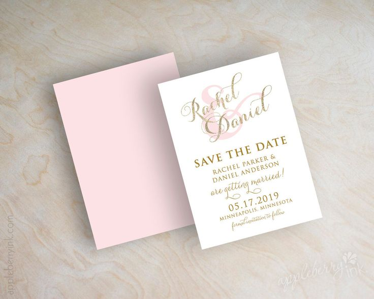 Gold glitter sparkle save the date card, pink and gold save the dates, typography, script names, cursive save the date, pink, gold, Sparkle by appleberryink on Etsy https://www.etsy.com/listing/241211638/gold-glitter-sparkle-save-the-date-card