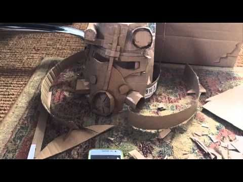 How to make Fallout 4 power armor in paper or cardboard - YouTube