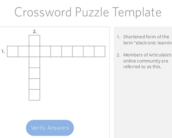 This is a crossword puzzle template created in Articulate Storyline 2.
