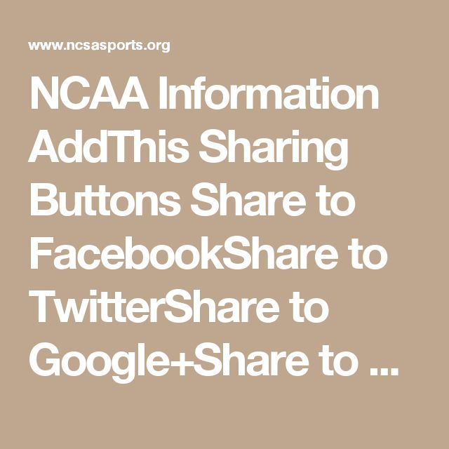 NCAA Information  AddThis Sharing Buttons  Share to FacebookShare to TwitterShare to Google+Share to EmailShare to More    The NCAA was created in 1906 largely to protect college football players in the early days of the sport. Today, the mission of the organization is to see that 450,000 student-athletes in the NCAA's three divisions achieve academic success, and compete in a fair, safe, inclusive and sportsmanlike manner. The NCAA distributes more than $1.5 billion in scholarships…