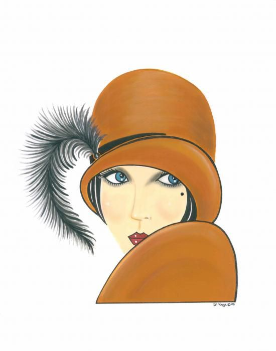 Simple, yet lovely, Art Deco Lady.