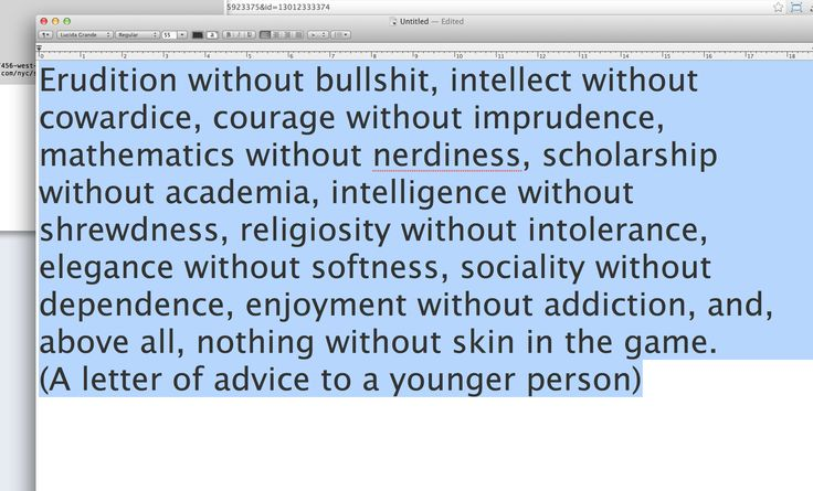 Nassim Nicholas Taleb.  Amen.