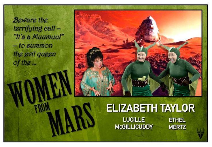 Meme I Love Lucy Women from Mars Elizabeth Taylor it's a moo-moo muumuu Lucy Ethel