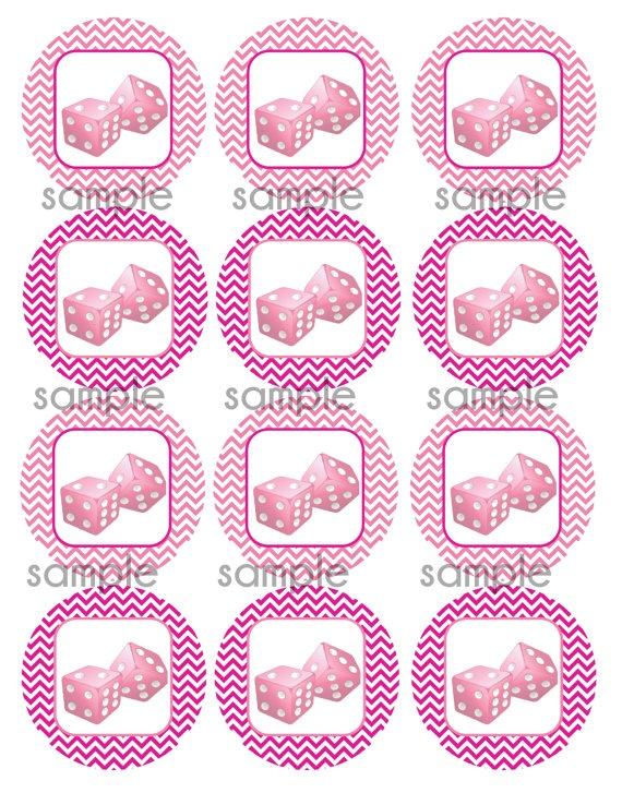 DIY Chevron Bunco Girls Night printable set by ASimplyPerfectParty, $3.99