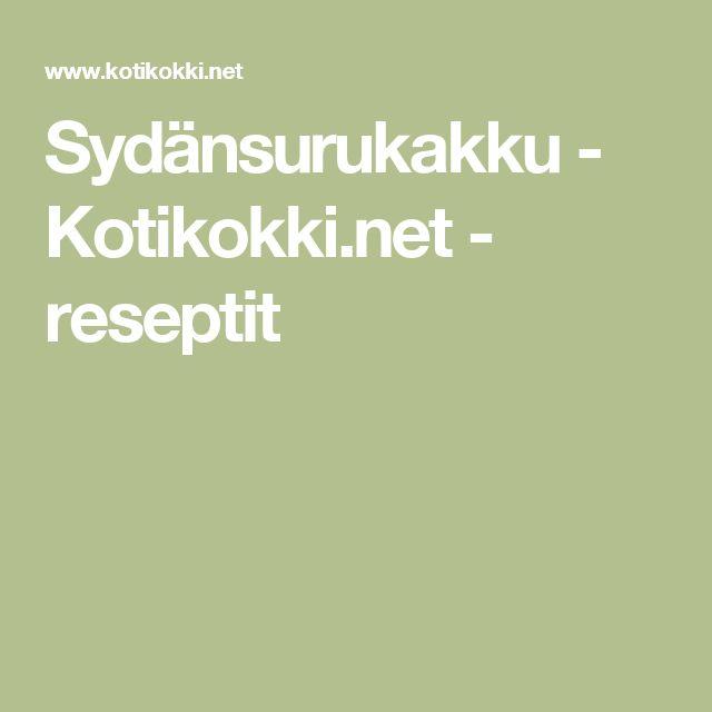 Sydänsurukakku - Kotikokki.net - reseptit