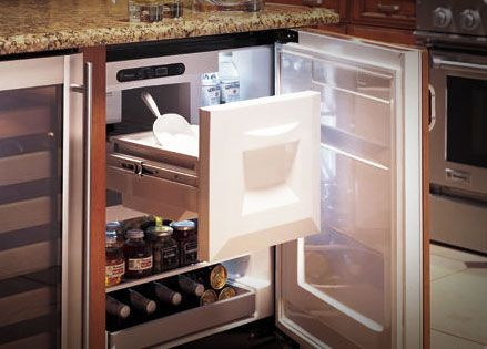 Small Freezers With Ice Makers Undercounter Refrigerators Are Minimalist In Scale But Abundant New Home Ideas 2018 Pinterest Refrigerator