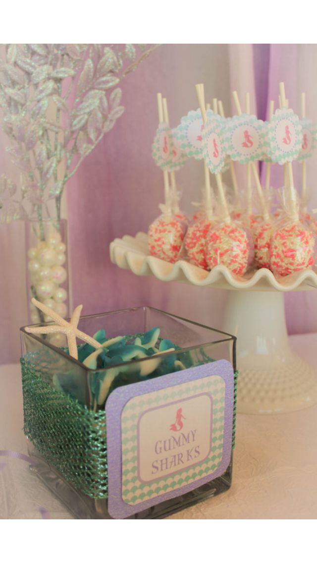 Candy Bar For Little Mermaid Theme Birthday Party