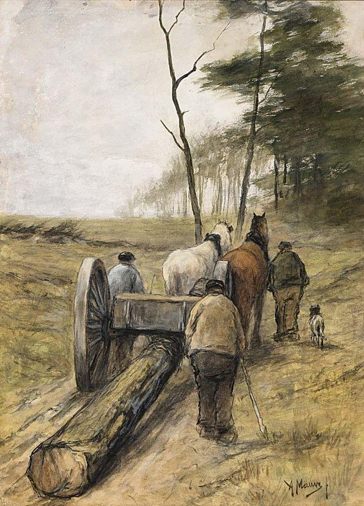 Anton Mauve - Houthakkers op een zanderige spoor