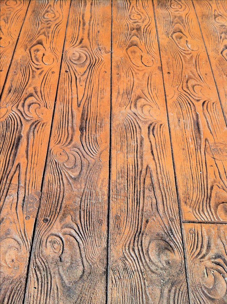 Estampado tipo madera parque Venecia Temuco