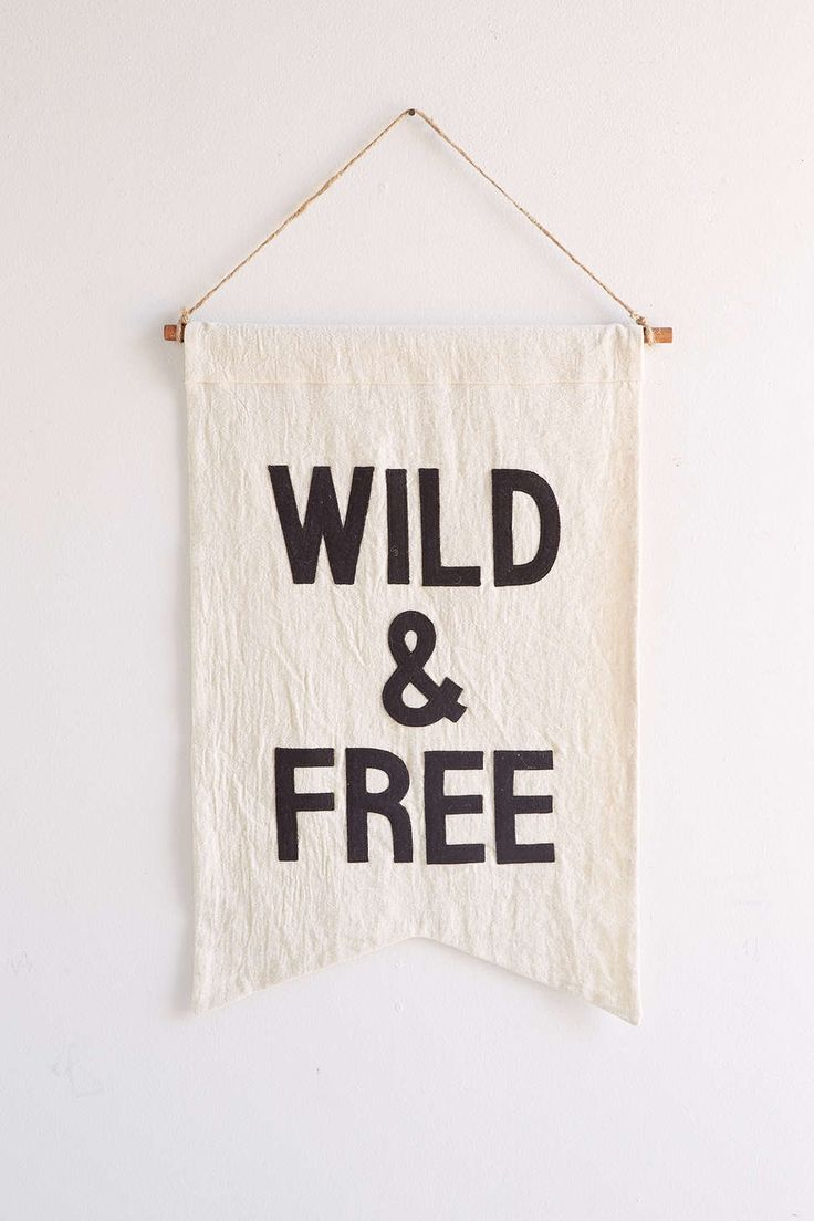 Secret Holiday & Co. X UO Wild Banner #wild and #free