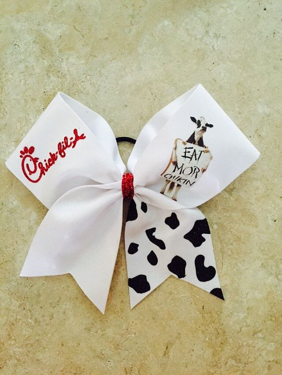 Eat Mor Chikin bow by CheerbowsbyTara on Etsy