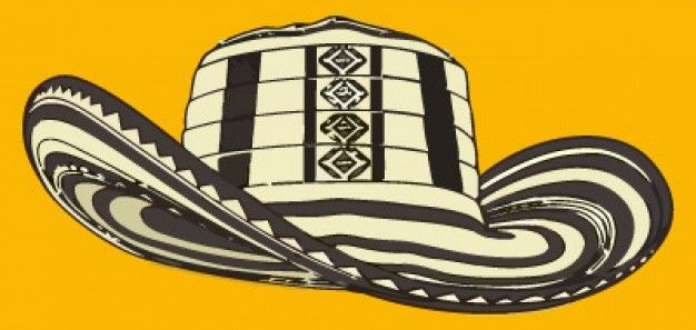 Vector del sombrero vueltiao