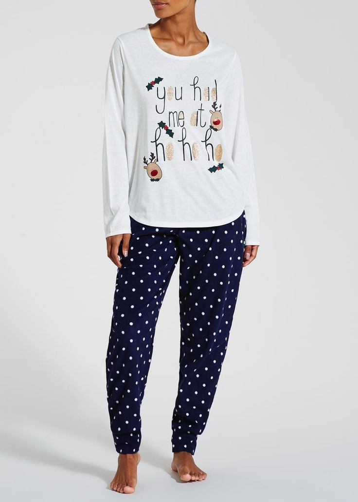 Reindeer Christmas Pyjama Gift Set £12, Matalan
