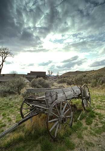Dramatic carriage in Bannack, Montana