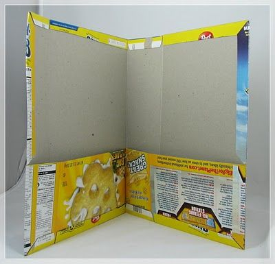 Awesome idea for cereal boxes they want to keep...Inky Doodles: Recycle Crafting