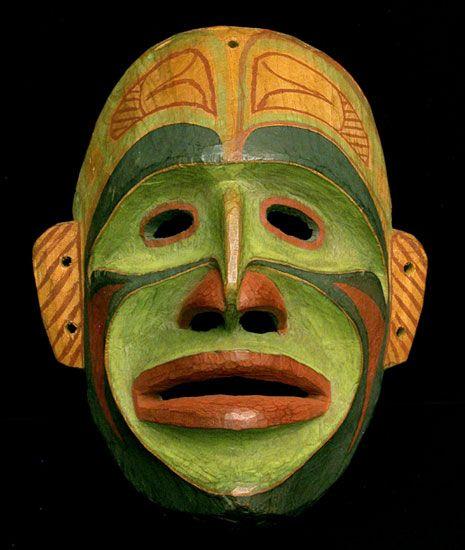 Northwest Coast Bella Bella  Ceremonial Mask http://nativeamericanencyclopedia.com/northwest-native-american-ceremonial-masks/