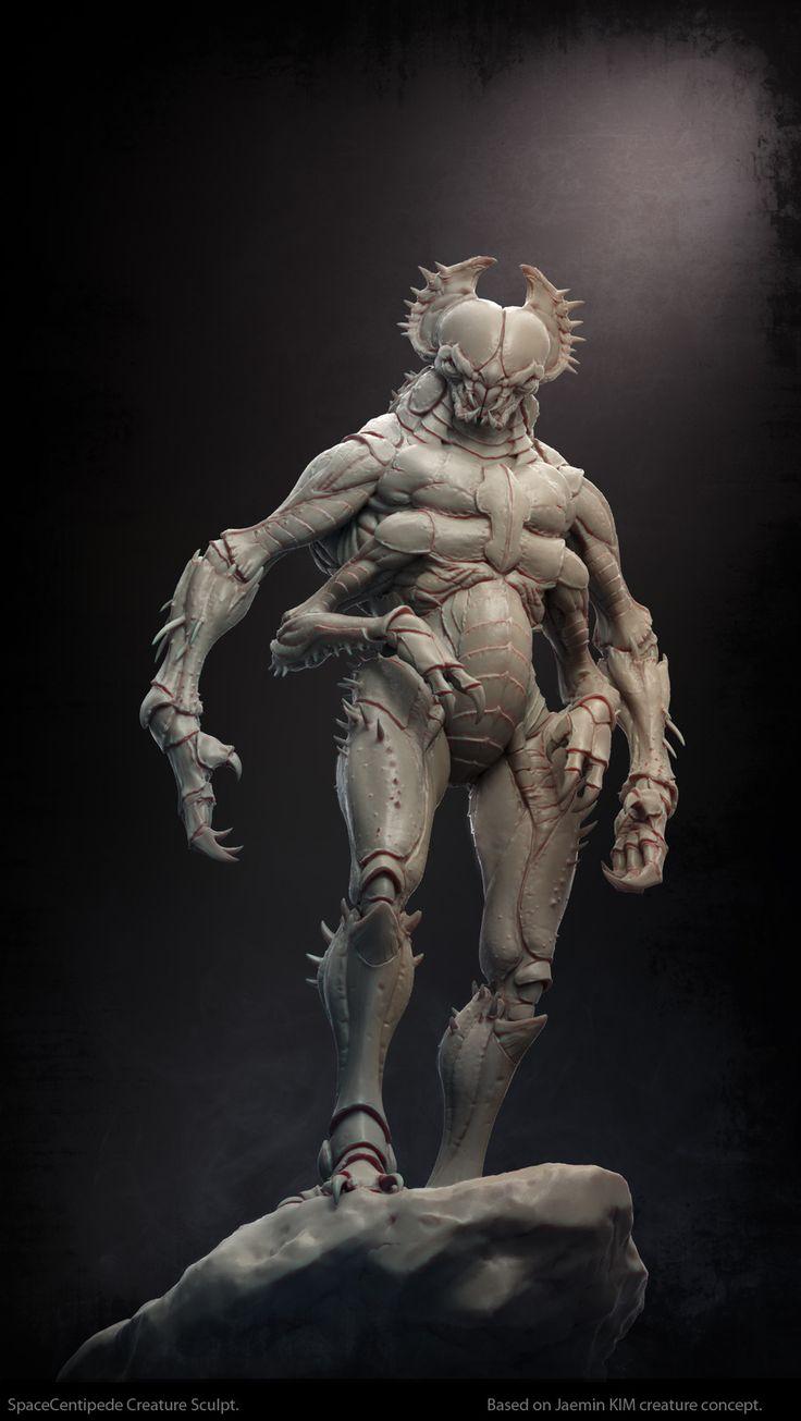 Creature sculpt over Jaemin KIM concept || Bestiary