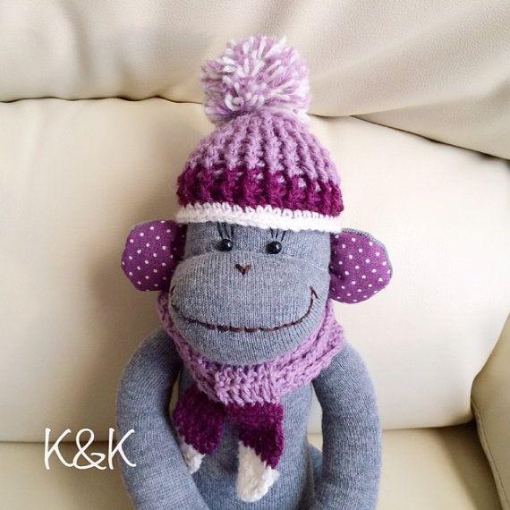 Sock Monkey Girl 92  Socks Monkey Light by KnKCraftsAndDesigns