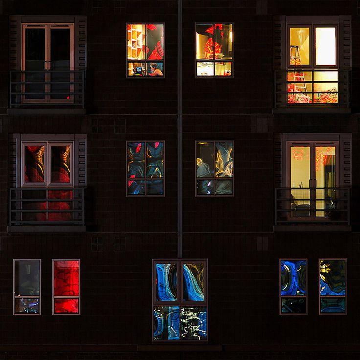 Miscellaneous – Illuminated Windows At Night Wallpaper for iPad 4