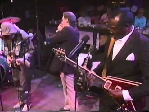 """Blues doesn't get better than this!  """"The Sky is Crying"""" -- Stevie Ray Vaughan, Fender Stratocaster and vocal; Albert King, Gibson Flying V and vocal; Paul Butterfield, harp and vocal; BB King, Gibson Les Paul."""