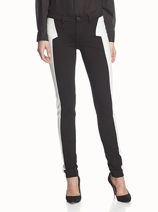 67% OFF SOLD Denim Women's Soho Super Skinny Pant (Black/White)