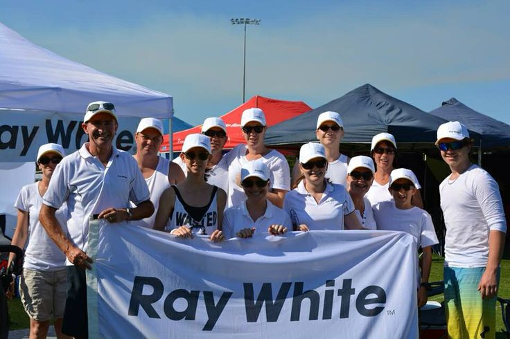 The Ray White Townsville City team at Relay for Life earlier this year
