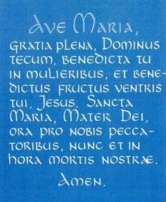 Hail Mary in Latin