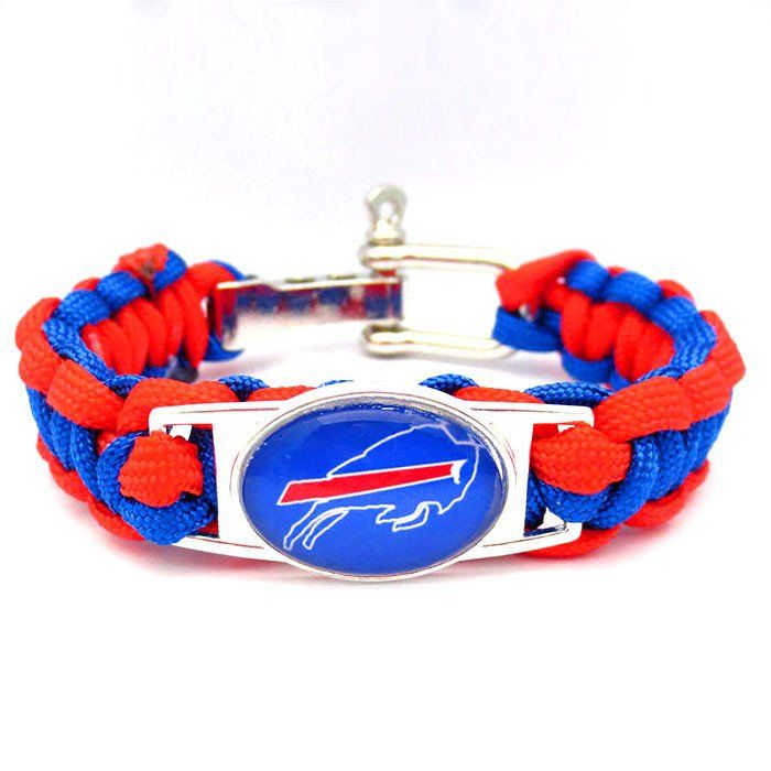 NFL Buffalo Bills Football Team Paracord Bracelet