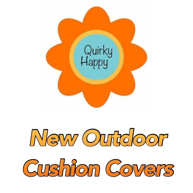 We now have Premium quality Euro size Outdoor Cushion Covers for $35. At QuirkyHappy.com!