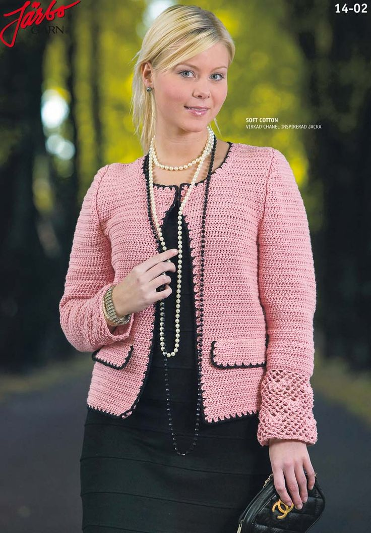 Knitting Pattern Chanel Style Jacket : Beautiful jacket inspired by Chanel. Crochet for Women Pinterest Beauti...