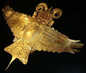 Incan Art. Gold bird.